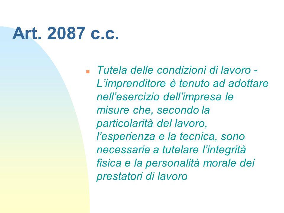 Art. 2087 c.c.
