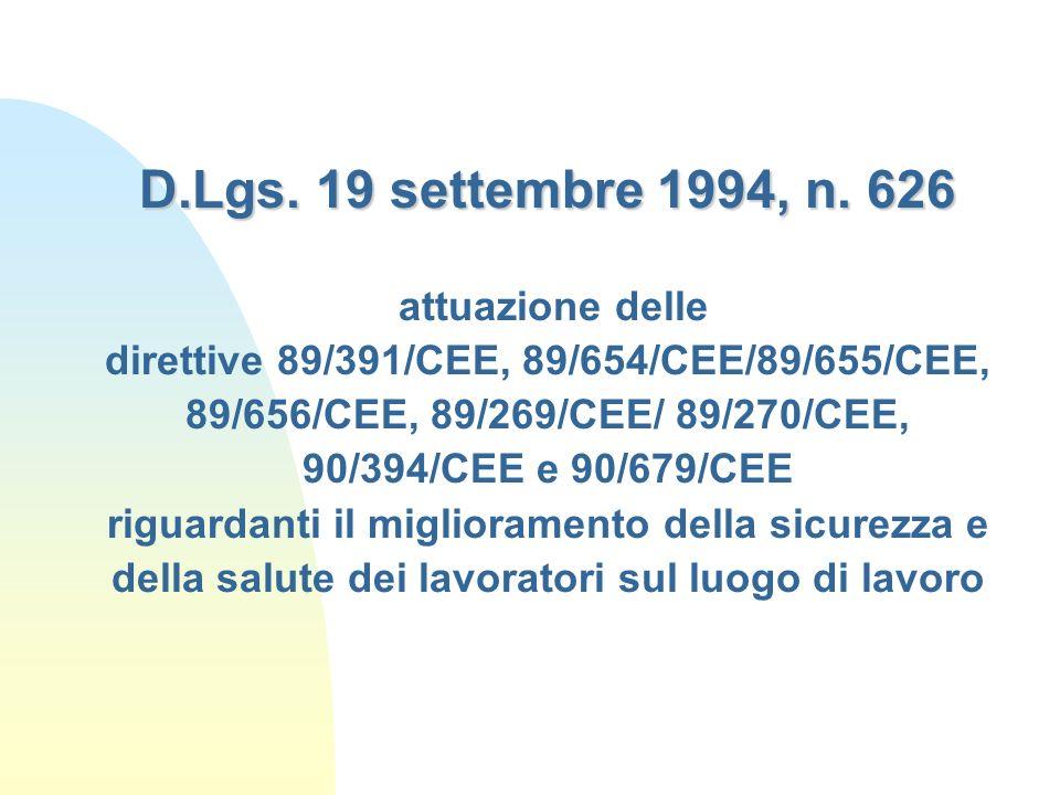 D.Lgs.19 settembre 1994, n.