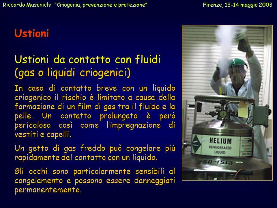 Ustioni da contatto con fluidi (gas o liquidi criogenici)