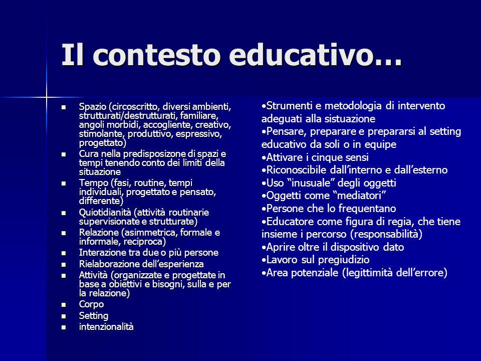Il contesto educativo…