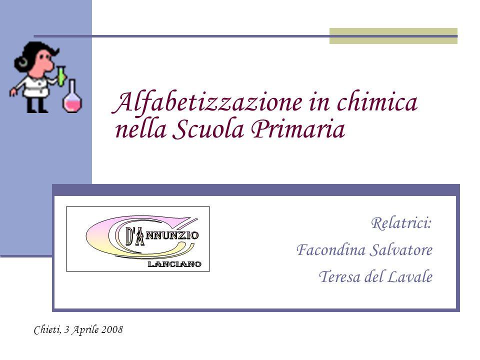 Alfabetizzazione in chimica nella Scuola Primaria