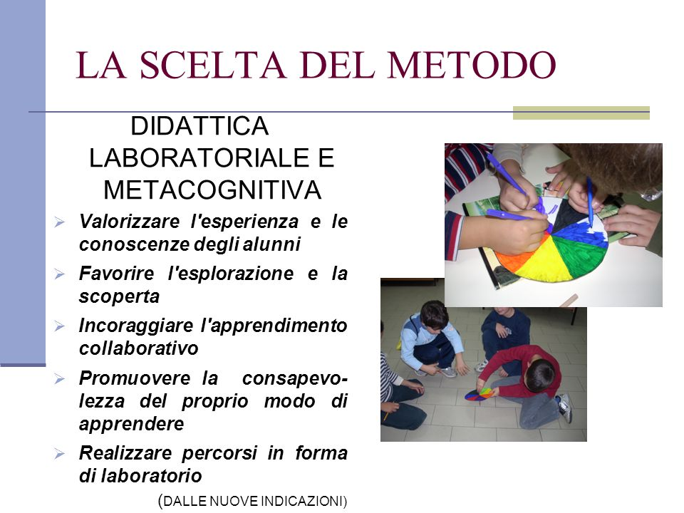 DIDATTICA LABORATORIALE E METACOGNITIVA