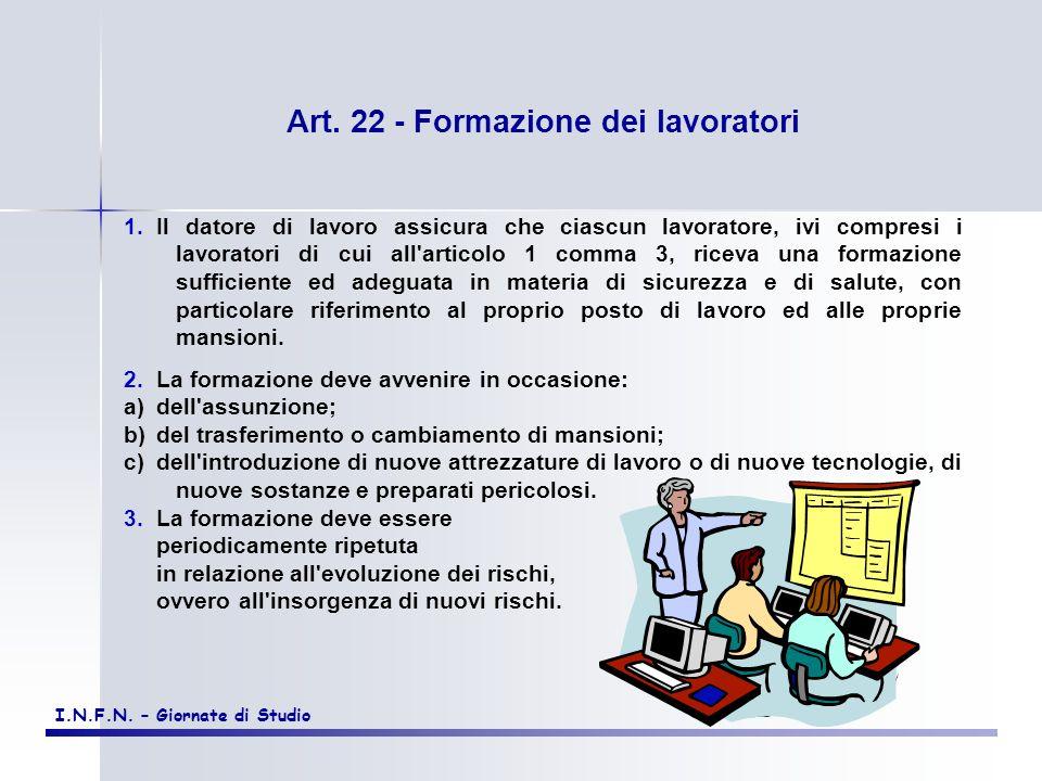 Art. 22 - Formazione dei lavoratori