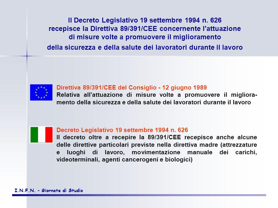 Il Decreto Legislativo 19 settembre 1994 n. 626