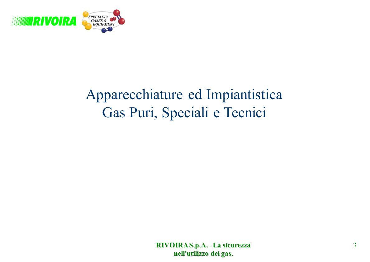 RIVOIRA S.p.A. - La sicurezza nell utilizzo dei gas.