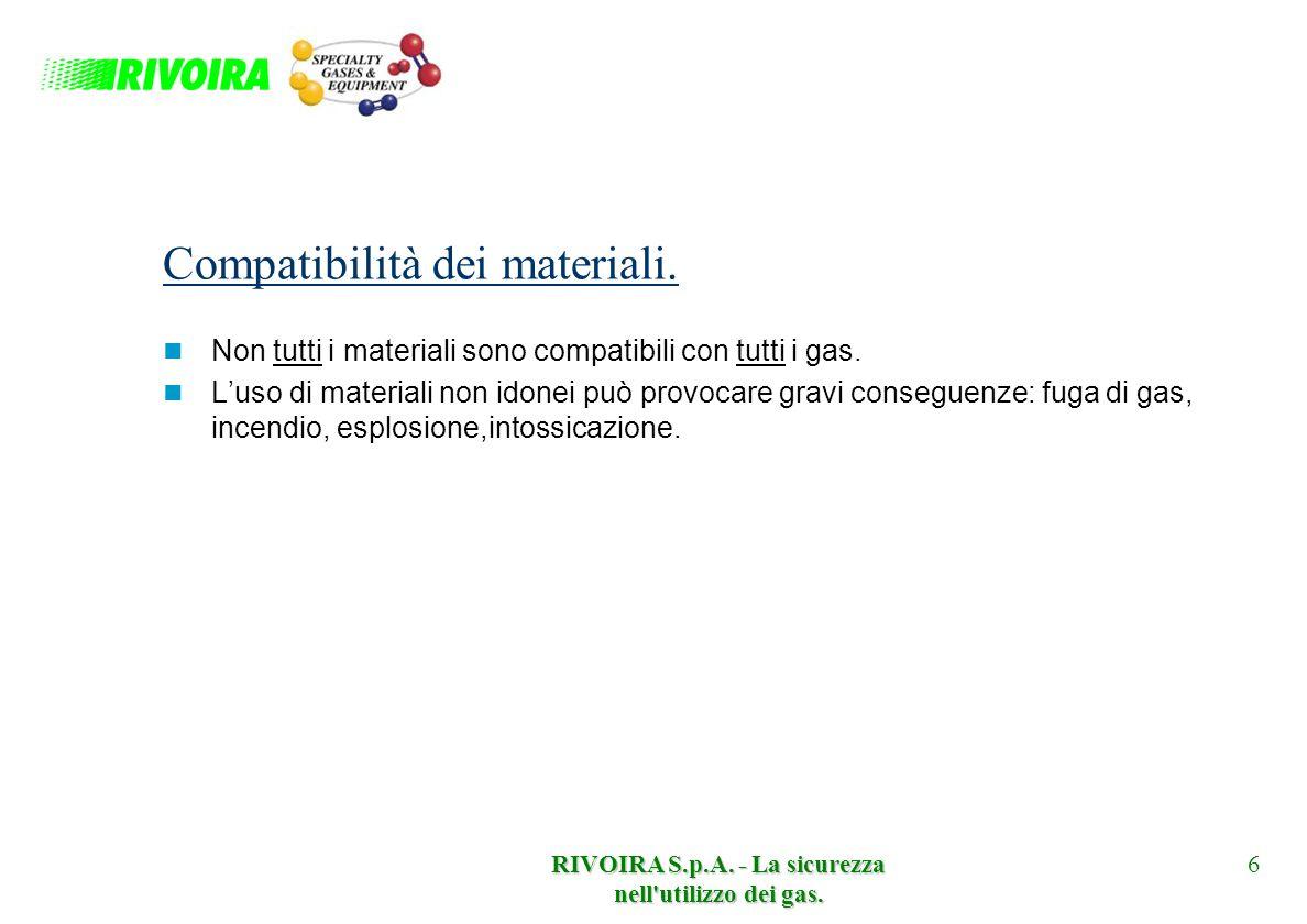 Compatibilità dei materiali.
