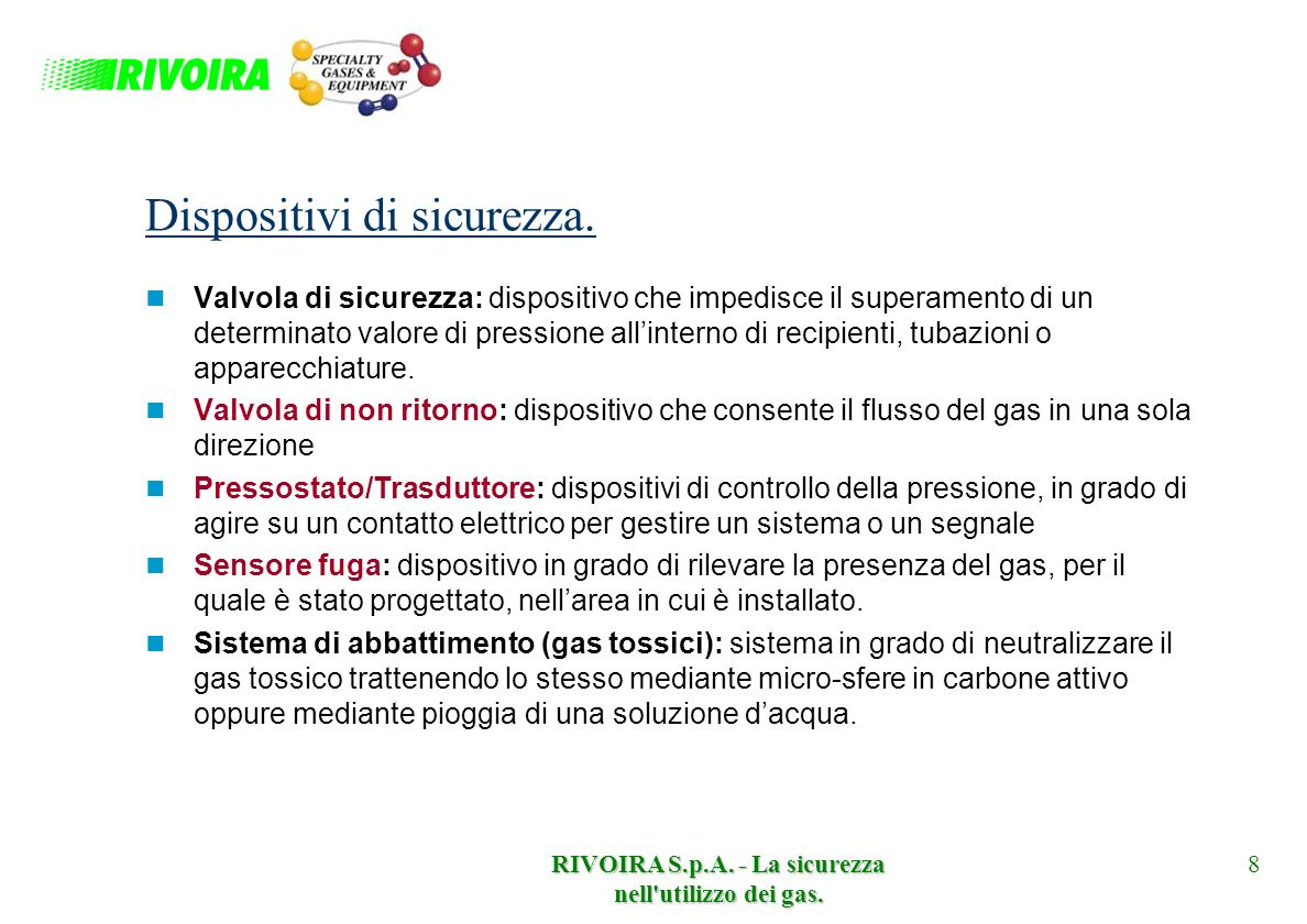 Dispositivi di sicurezza.