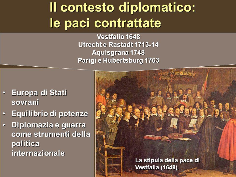 Il contesto diplomatico: le paci contrattate