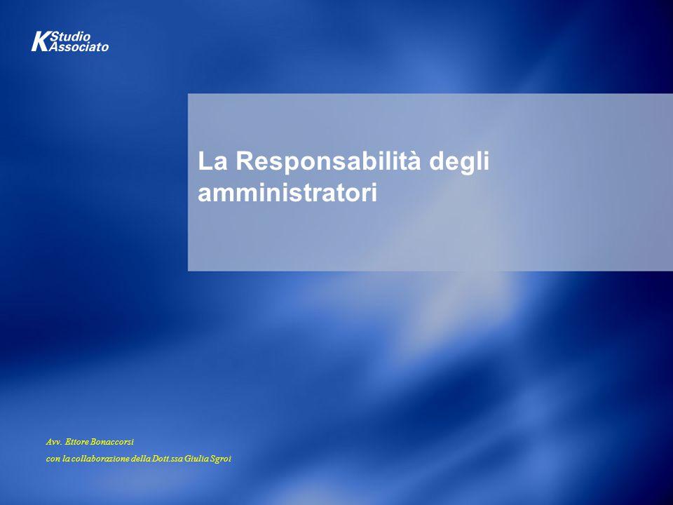 La Responsabilità degli amministratori