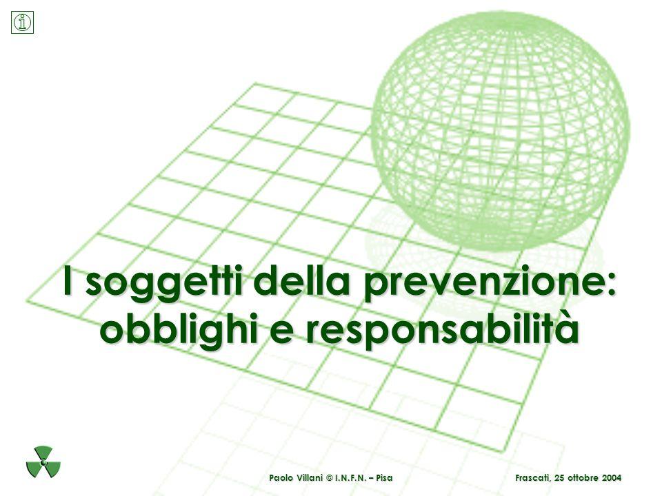 I soggetti della prevenzione: obblighi e responsabilità