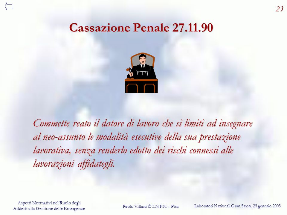 23 Cassazione Penale 27.11.90.