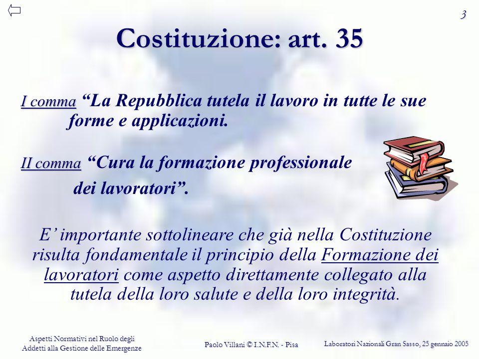 Costituzione: art. 35 dei lavoratori .