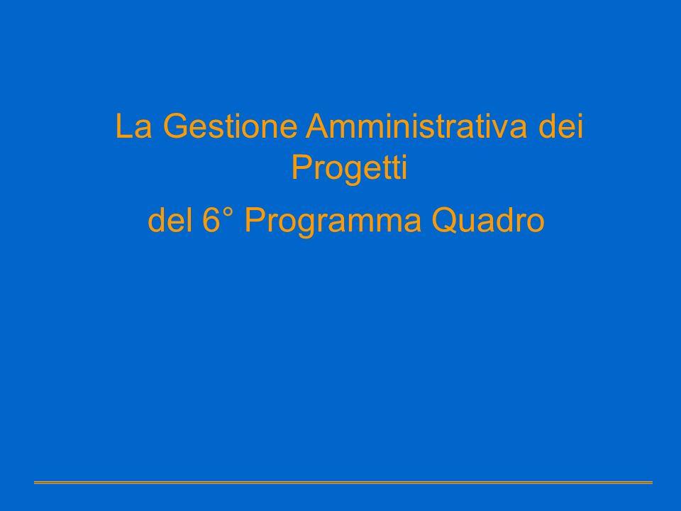 La Gestione Amministrativa dei Progetti