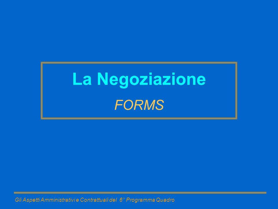 La Negoziazione FORMS