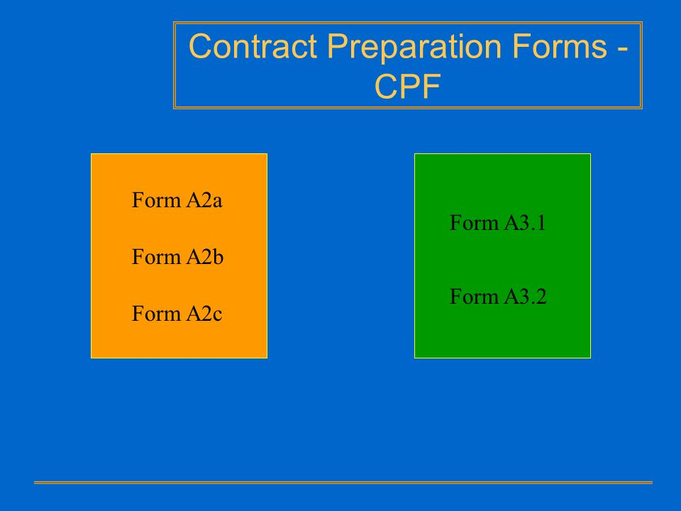Contract Preparation Forms - CPF