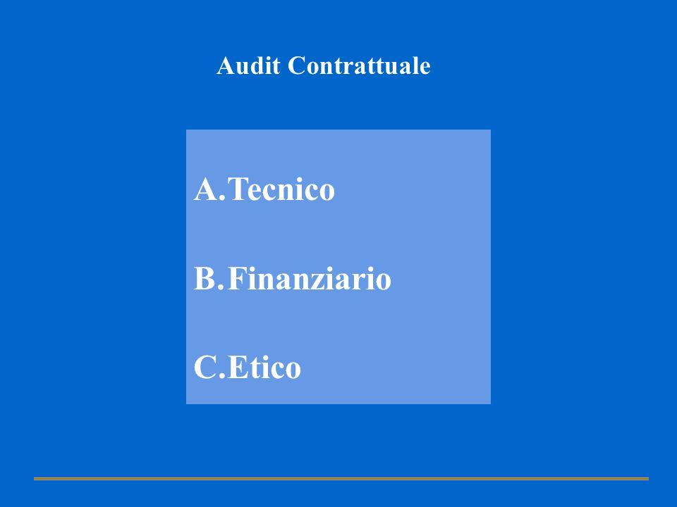 Audit Contrattuale Tecnico Finanziario Etico
