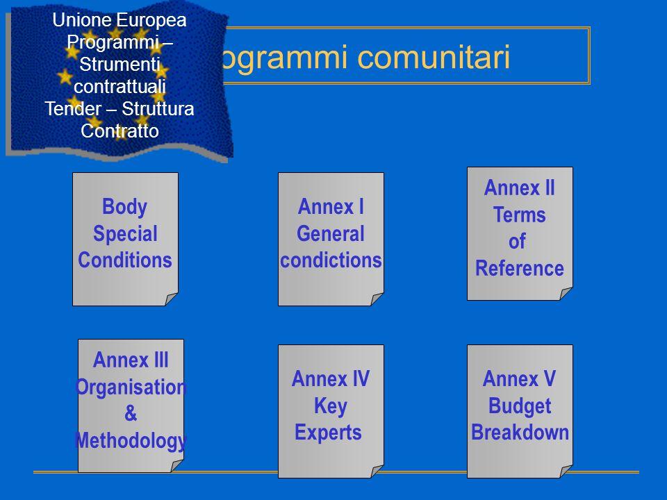 Programmi comunitari Annex II Terms of Reference Body Special