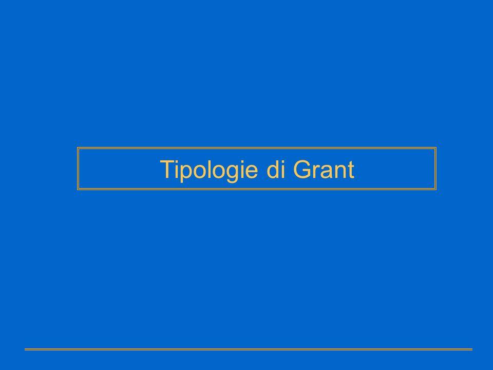 Tipologie di Grant