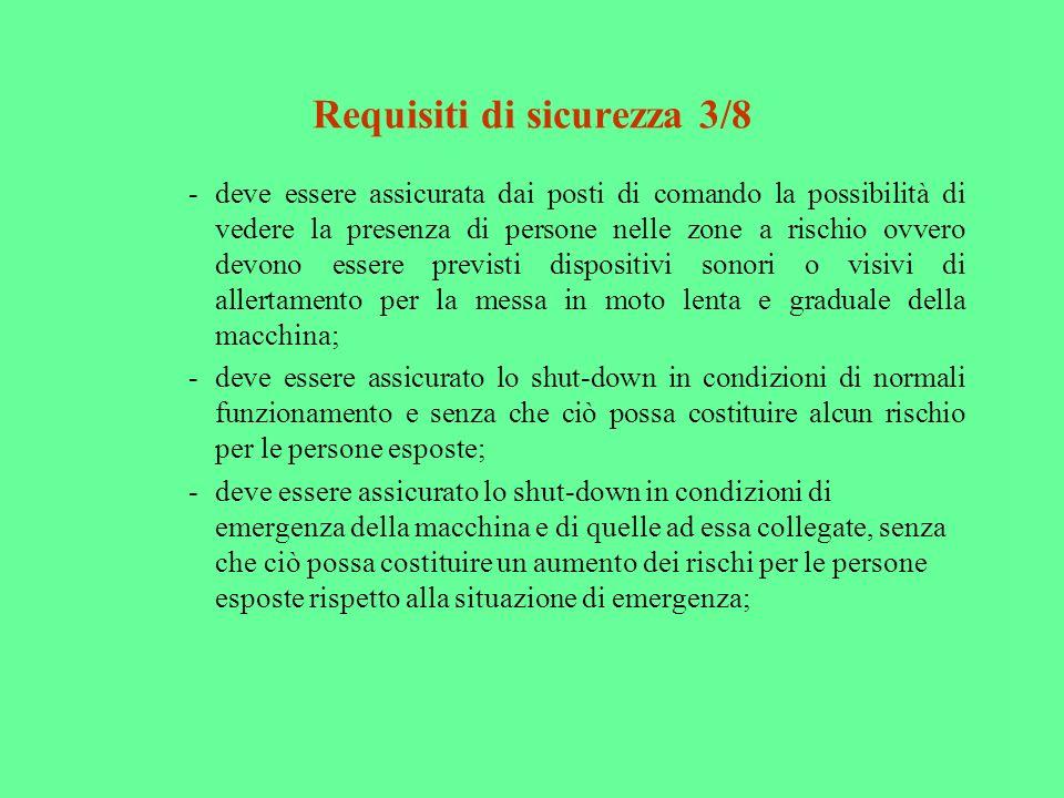 Requisiti di sicurezza 3/8