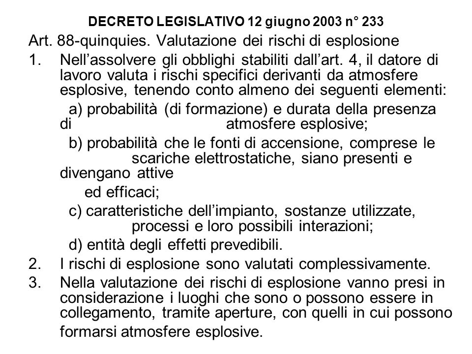 DECRETO LEGISLATIVO 12 giugno 2003 n° 233