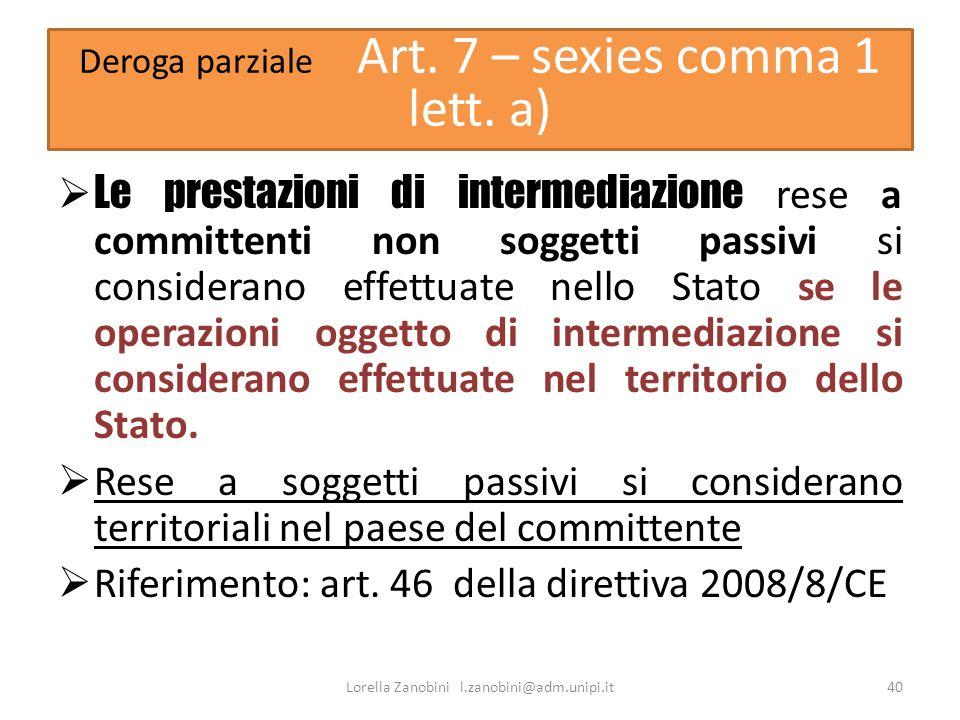 Riferimento: art. 46 della direttiva 2008/8/CE