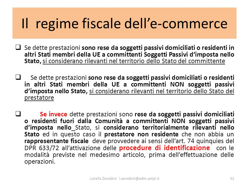 Il regime fiscale dell'e-commerce