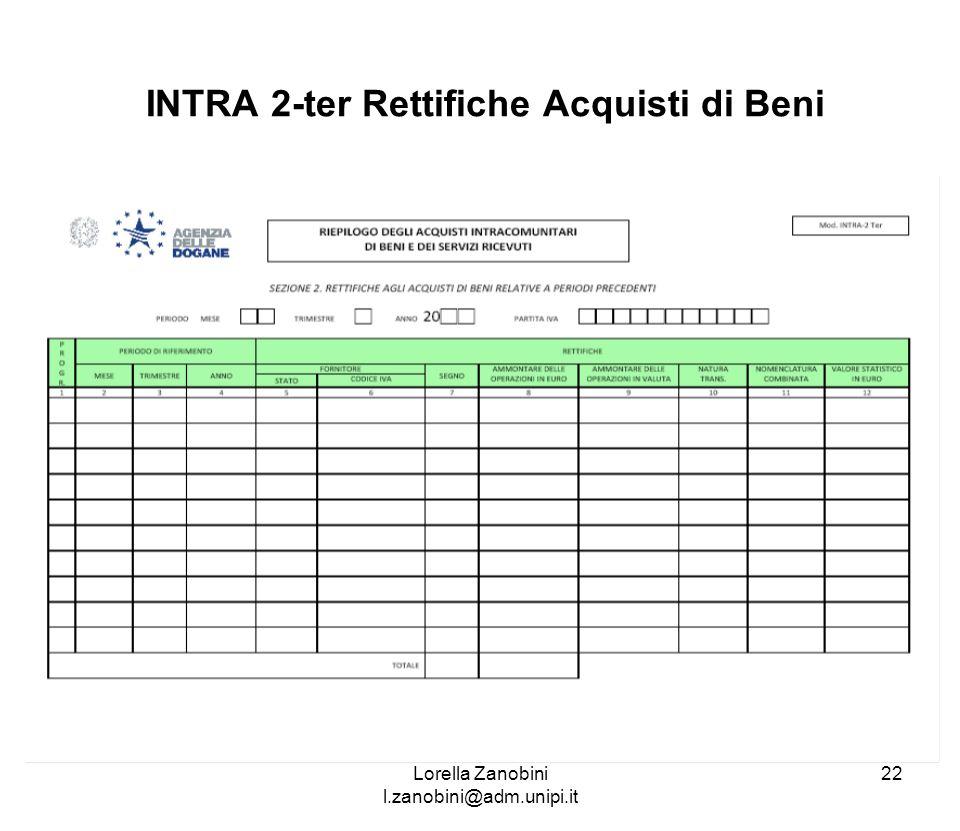 INTRA 2-ter Rettifiche Acquisti di Beni