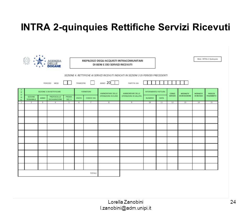 INTRA 2-quinquies Rettifiche Servizi Ricevuti