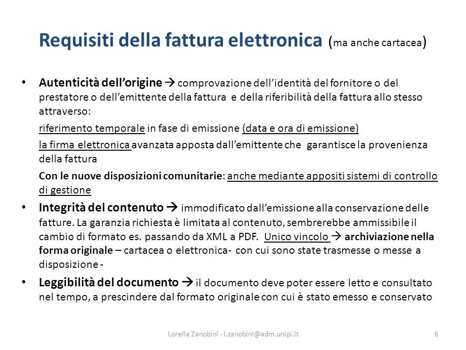 Requisiti della fattura elettronica (ma anche cartacea)