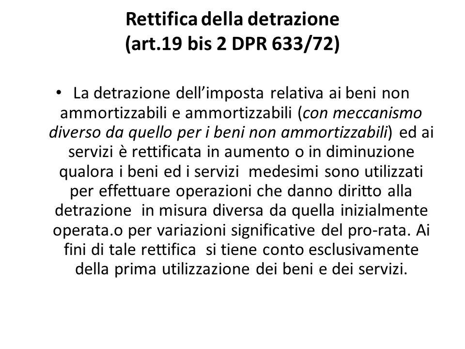 Rettifica della detrazione (art.19 bis 2 DPR 633/72)