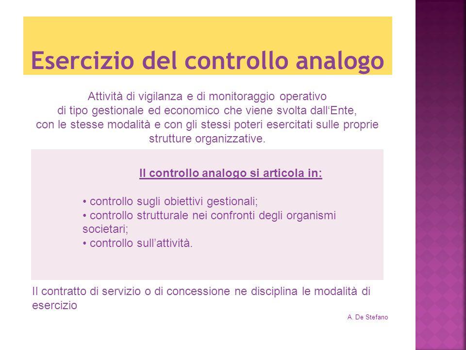 Esercizio del controllo analogo