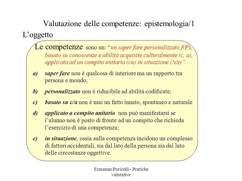 Valutazione delle competenze: epistemologia/1