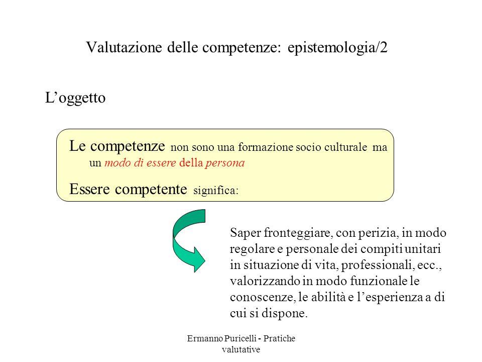 Valutazione delle competenze: epistemologia/2