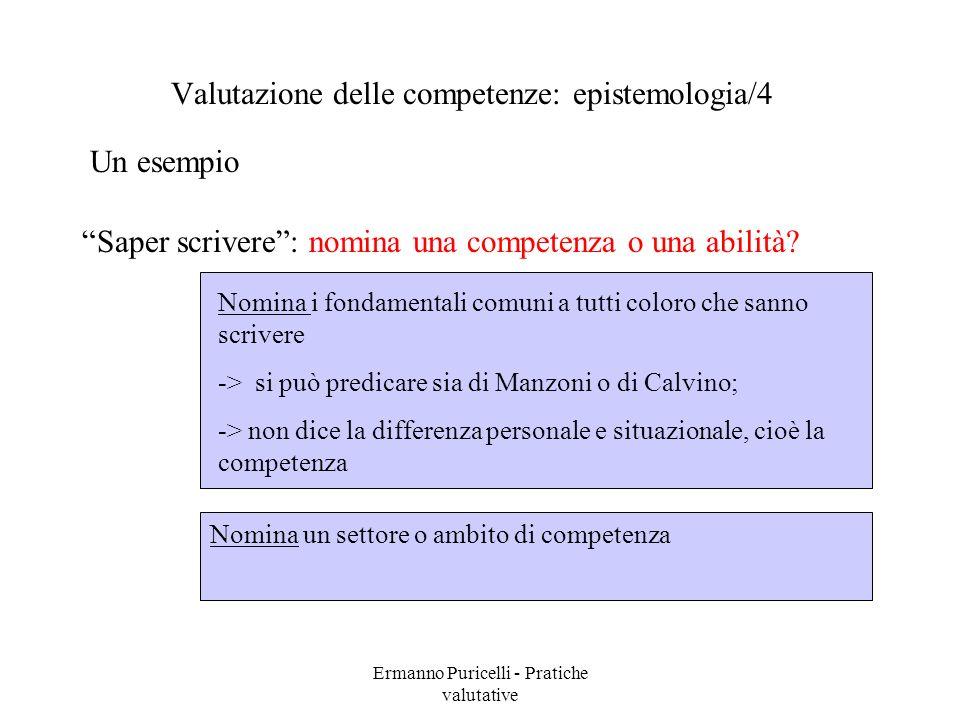 Valutazione delle competenze: epistemologia/4