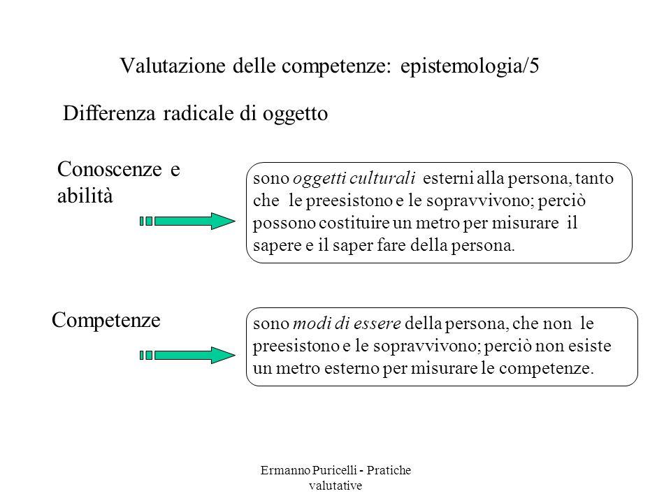 Valutazione delle competenze: epistemologia/5