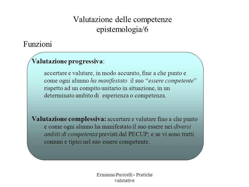 Valutazione delle competenze epistemologia/6