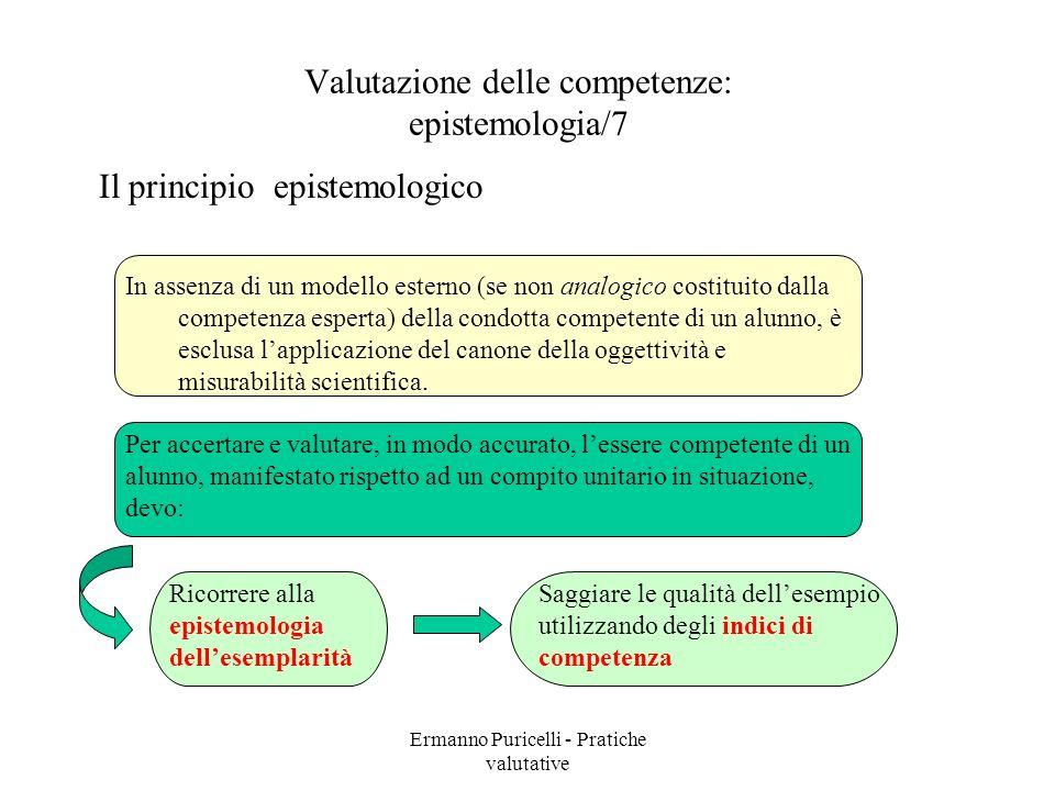 Valutazione delle competenze: epistemologia/7