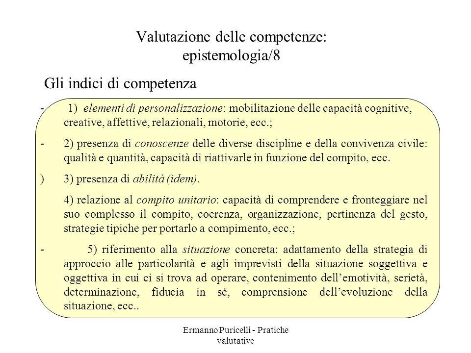 Valutazione delle competenze: epistemologia/8