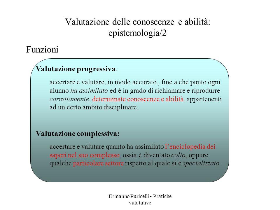 Valutazione delle conoscenze e abilità: epistemologia/2