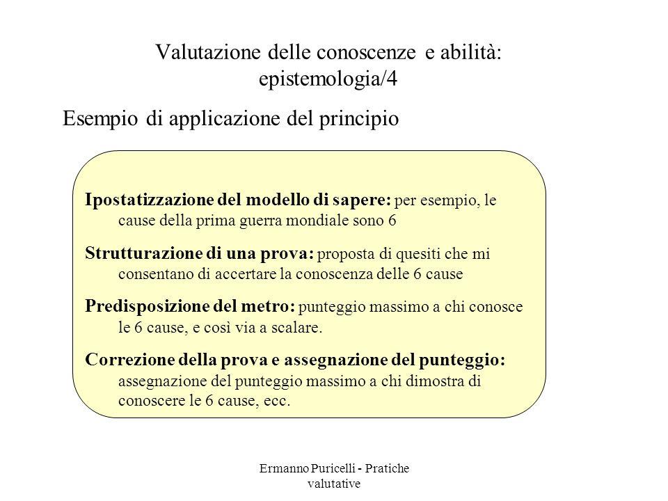 Valutazione delle conoscenze e abilità: epistemologia/4