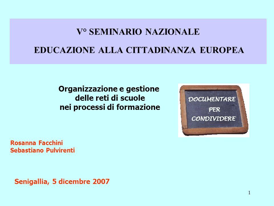 V° SEMINARIO NAZIONALE EDUCAZIONE ALLA CITTADINANZA EUROPEA