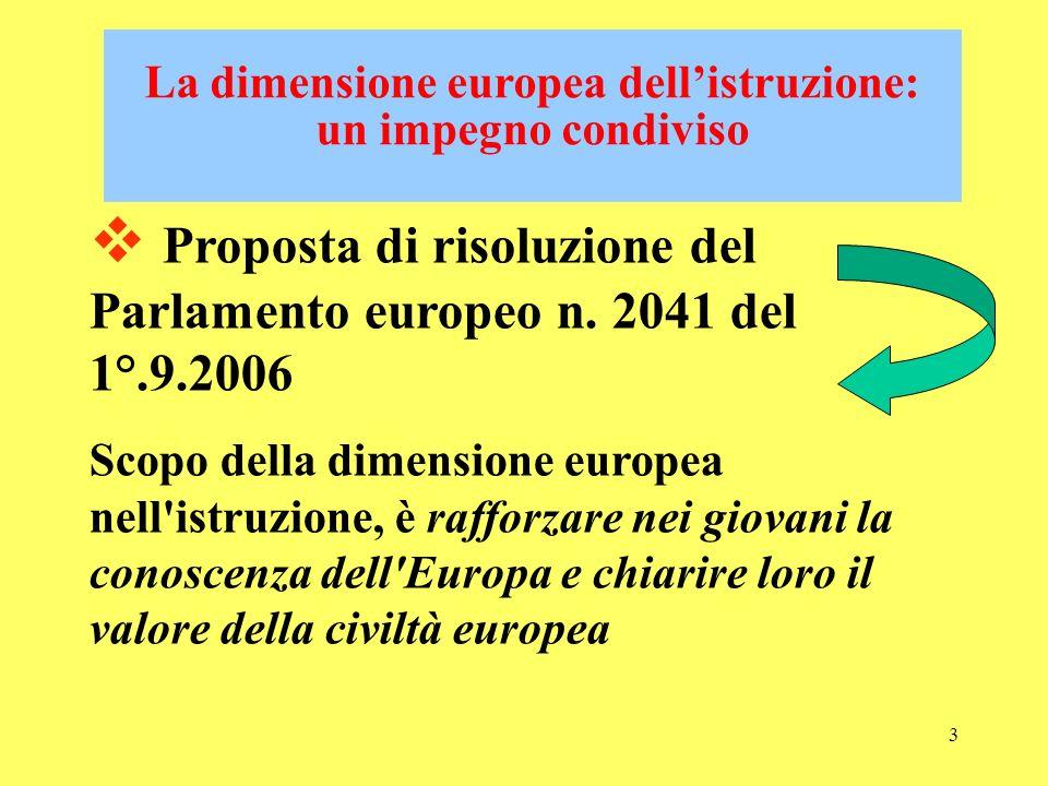 La dimensione europea dell'istruzione: