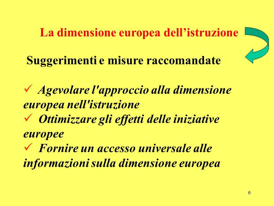 La dimensione europea dell'istruzione
