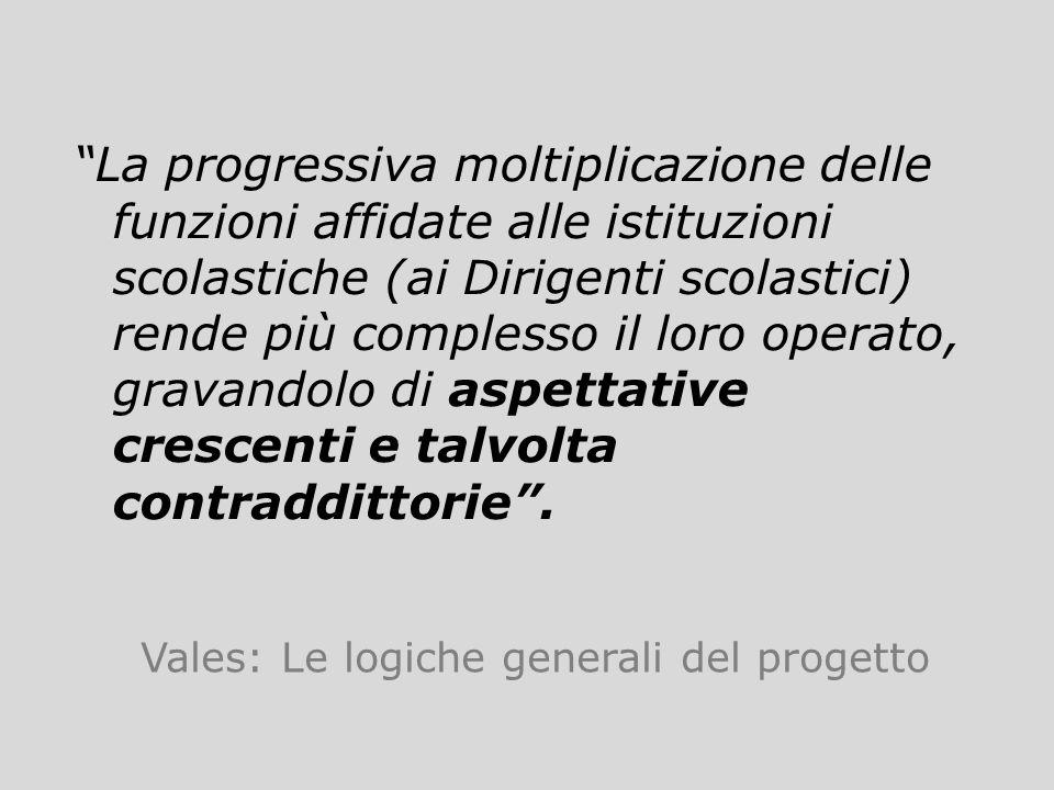Vales: Le logiche generali del progetto