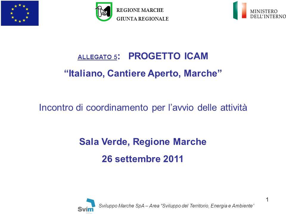 Italiano, Cantiere Aperto, Marche