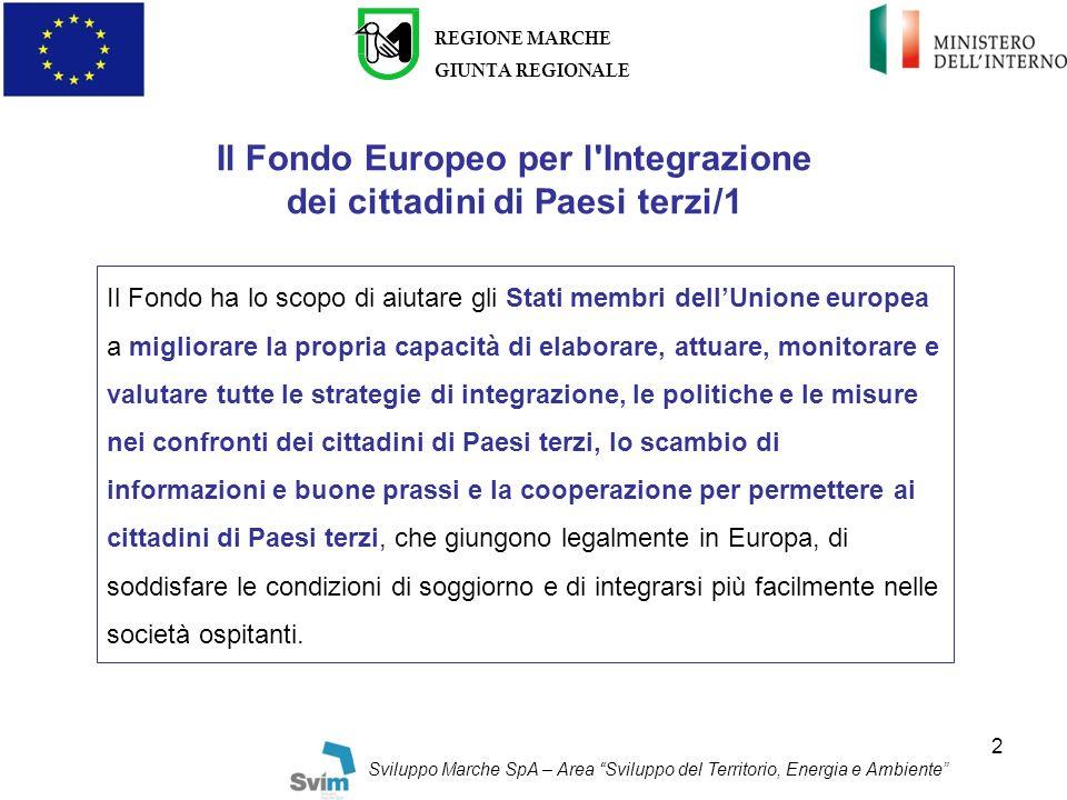 Il Fondo Europeo per l Integrazione dei cittadini di Paesi terzi/1