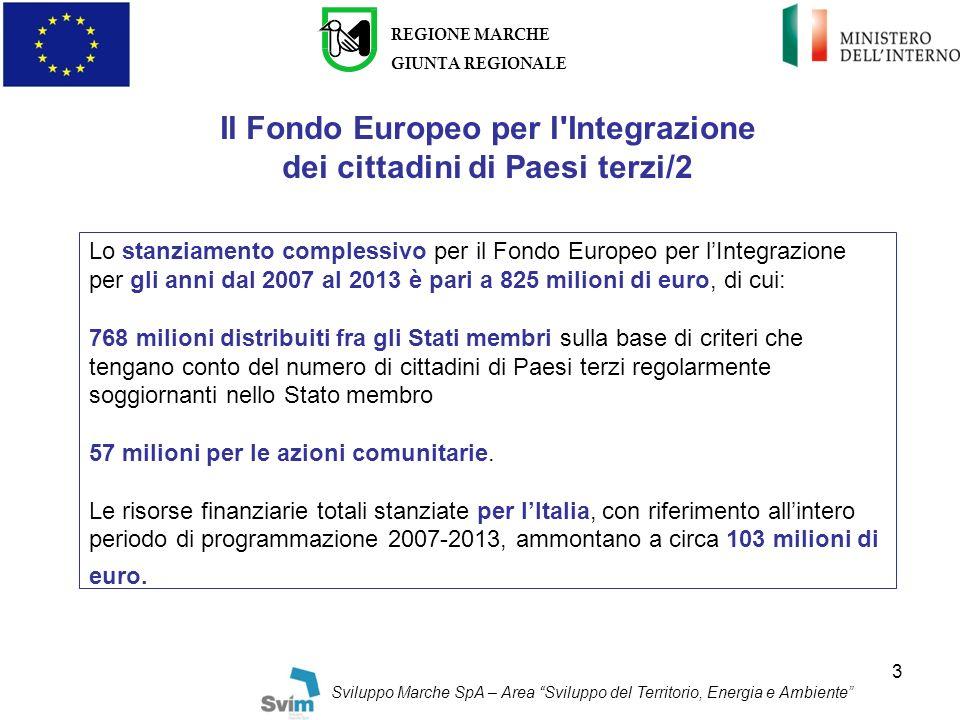 Il Fondo Europeo per l Integrazione dei cittadini di Paesi terzi/2