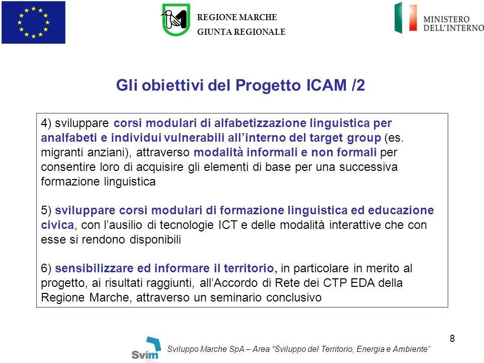 Gli obiettivi del Progetto ICAM /2