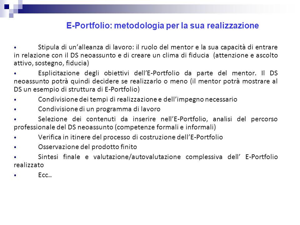 E-Portfolio: metodologia per la sua realizzazione