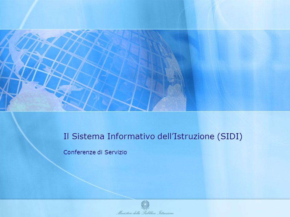 Il Sistema Informativo dell'Istruzione (SIDI)
